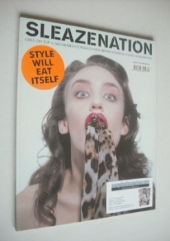 Sleazenation magazine - April 2002 - Elizabeth Jagger cover