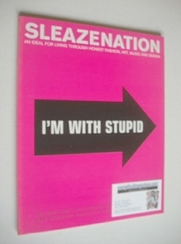 Sleazenation magazine - November 2001 - I'm With Stupid cover