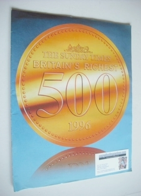 <!--1996-->The Sunday Times Britain's Richest 500 magazine (1996)