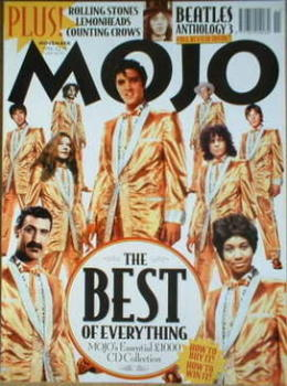 MOJO magazine - The Best Of Everything cover (November 1996 - Issue 36)