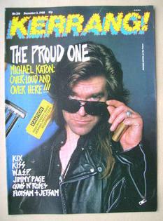 <!--1988-12-03-->Kerrang magazine - Michael Katon cover (3 December 1988 -
