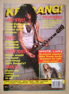 <!--1991-07-27-->Kerrang magazine - Slash cover (27 July 1991 - Issue 351)