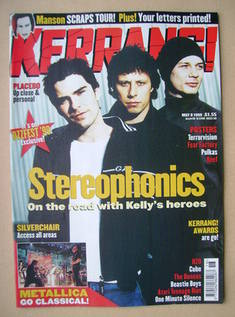 <!--1999-05-08-->Kerrang magazine - Stereophonics cover (8 May 1999 - Issue