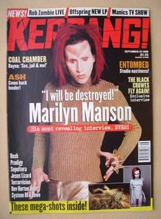 <!--1998-09-19-->Kerrang magazine - Marilyn Manson cover (19 September 1998