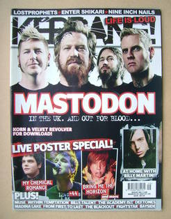 <!--2007-03-03-->Kerrang magazine - Mastodon cover (3 March 2007 - Issue 11