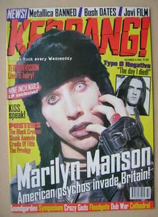 <!--1996-12-14-->Kerrang magazine - Marilyn Manson cover (14 December 1996
