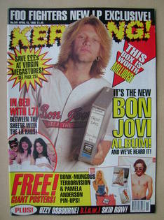 <!--1995-04-15-->Kerrang magazine - Jon Bon Jovi cover (15 April 1995 - Iss