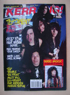 <!--1990-01-13-->Kerrang magazine - Testament cover (13 January 1990 - Issu