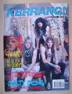 <!--1990-01-27-->Kerrang magazine - Salty Dog cover (27 January 1990 - Issu