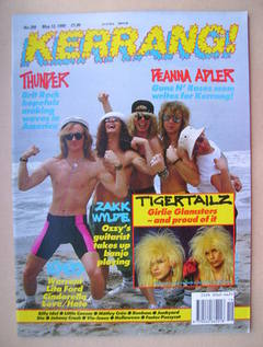 <!--1990-05-12-->Kerrang magazine - Thunder cover (12 May 1990 - Issue 289)