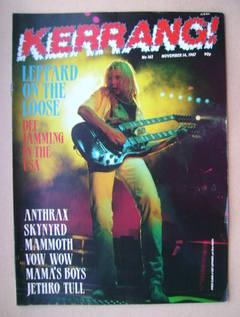 <!--1987-11-14-->Kerrang magazine - Steve Clark cover (14 November 1987 - I