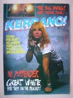 <!--1987-11-07-->Kerrang magazine - Jack Russell cover (7 November 1987 - I