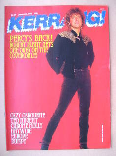 <!--1988-01-23-->Kerrang magazine - Robert Plant cover (23 January 1988 - I