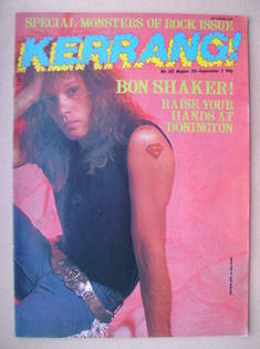<!--1987-08-20-->Kerrang magazine - Jon Bon Jovi cover (20 August-2 Septemb