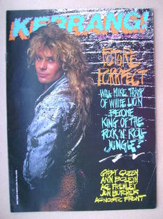 <!--1987-12-19-->Kerrang magazine - Mike Tramp cover (19 December 1987 - Is