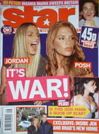 Star magazine - Jordan & Victoria Beckham cover (6-12 March 2004, Issue 16)