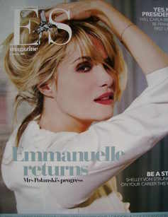 Evening Standard magazine - Emmanuelle Seigner cover (11 January 2008)