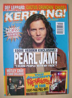 <!--1993-10-23-->Kerrang magazine - Eddie Vedder cover (23 October 1993 - I