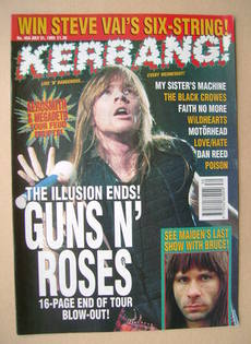 <!--1993-07-31-->Kerrang magazine - 31 July 1993 (Issue 454)