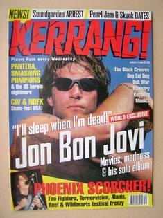 <!--1996-08-03-->Kerrang magazine - Jon Bon Jovi cover (3 August 1996 - Iss