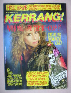 <!--1989-01-28-->Kerrang magazine - Lorraine Lewis cover (28 January 1989 -