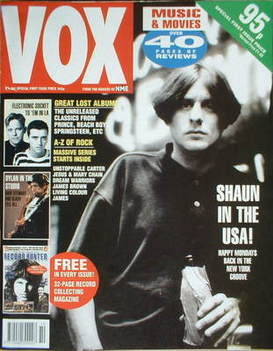 VOX magazine - Shaun Ryder cover (October 1990 - Issue 1)