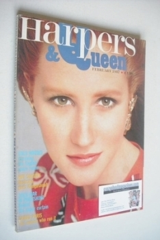 British Harpers & Queen magazine - February 1987