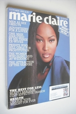 <!--1992-10-->British Marie Claire magazine - October 1992 - Naomi Campbell