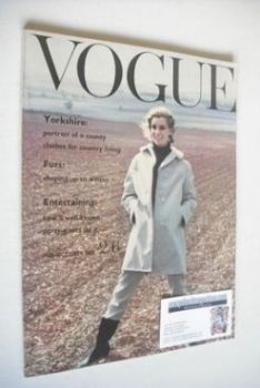 British Vogue magazine - October 1960 (Mid-October)