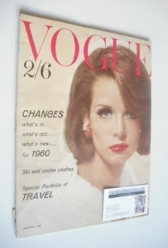 British Vogue magazine - January 1960 (Vintage Issue)
