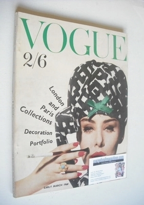 <!--1960-03-->British Vogue magazine - March 1960 (Early March)