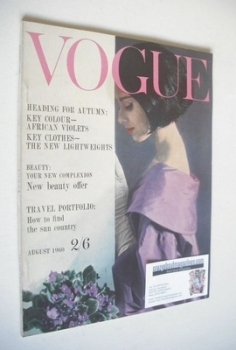 British Vogue magazine - August 1960 (Vintage Issue)