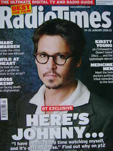 <!--2008-01-19-->Radio Times magazine - Johnny Depp cover (19-25 January 20