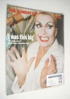 <!--1996-10-20-->The Sunday Times magazine - Elaine Paige cover (20 October