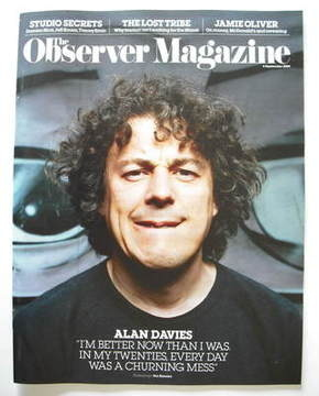 <!--2009-09-06-->The Observer magazine - Alan Davies cover (6 September 200