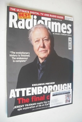 <!--2008-01-26-->Radio Times magazine - David Attenborough cover (26 Januar