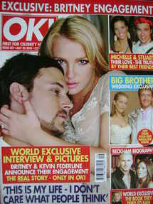 <!--2004-07-20-->OK! magazine - Britney Spears and Kevin Federline engageme