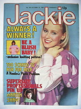 <!--1980-10-18-->Jackie magazine - 18 October 1980 (Issue 876)