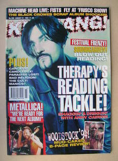<!--1994-08-27-->Kerrang magazine - Andy Cairns cover (27 August 1994 - Iss