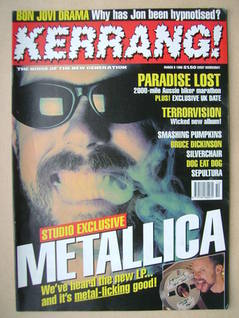 <!--1996-03-09-->Kerrang magazine - 9 March 1996 (Issue 587)