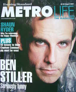 <!--2004-08-20-->Metrolife magazine - Ben Stiller cover (20-26 August 2004)