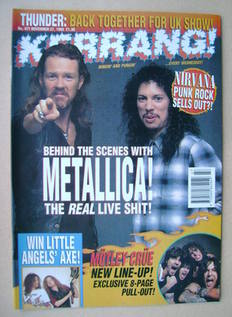 <!--1993-11-27-->Kerrang magazine - 27 November 1993 (Issue 471)
