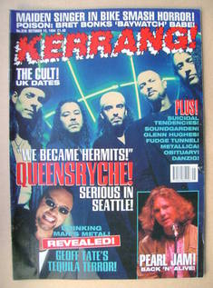 <!--1994-10-15-->Kerrang magazine - Queensryche cover (15 October 1994 - Is