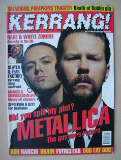 <!--1996-05-25-->Kerrang magazine - Metallica cover (25 May 1996 - Issue 59