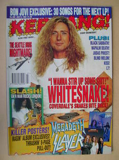 <!--1994-07-09-->Kerrang magazine - David Coverdale cover (9 July 1994 - Is
