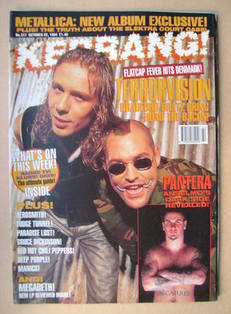 <!--1994-10-22-->Kerrang magazine - Terrorvision cover (22 October 1994 - I