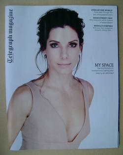 <!--2013-10-26-->Telegraph magazine - Sandra Bullock cover (26 October 2013