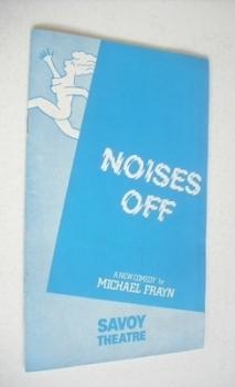 Noises Off (Savoy Theatre Programme, July 1985)