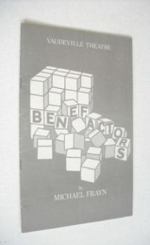 Benefactors (Vaudeville Theatre Programme, March 1985)