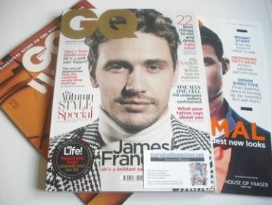 <!--2013-11-->British GQ magazine - November 2013 - James Franco cover